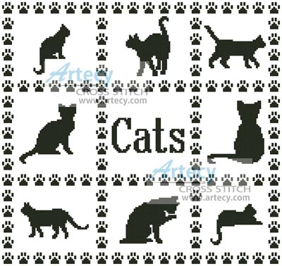 Cat Sampler - Cross Stitch Chart - Click Image to Close