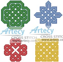 Celtic Patterns - Cross Stitch Chart - Click Image to Close