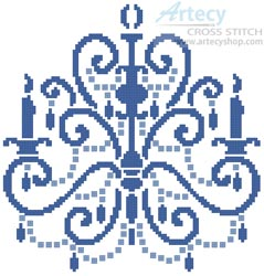 Chandelier - Cross Stitch Chart - Click Image to Close