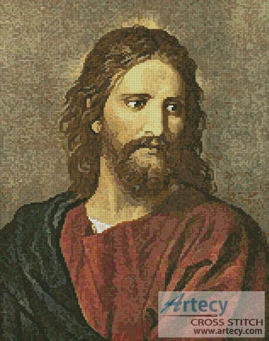 Christ at 33 - Cross Stitch Chart - Click Image to Close