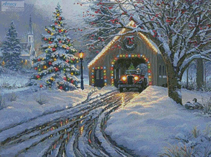 Christmas Crossing - Cross Stitch Chart - Click Image to Close