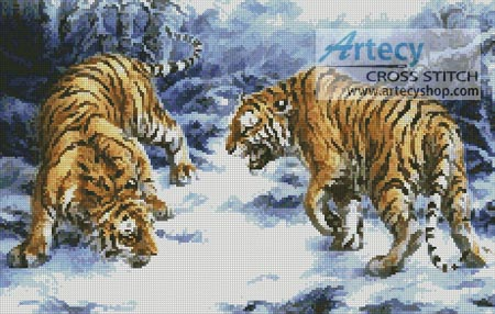 Confrontation - Cross Stitch Chart - Click Image to Close