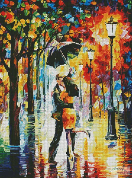Dance Under the Rain - Cross Stitch Chart - Click Image to Close