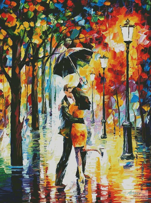 Dance Under the Rain (Large) - Cross Stitch Chart - Click Image to Close