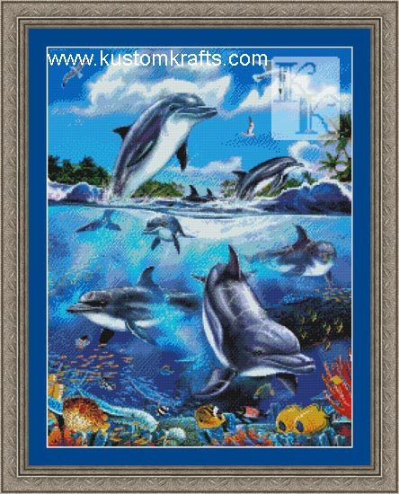 Dolphins at Play - Kustom Krafts Chart - Click Image to Close
