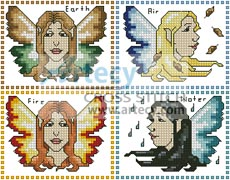 Element Fairy Sampler - Cross Stitch Chart - Click Image to Close
