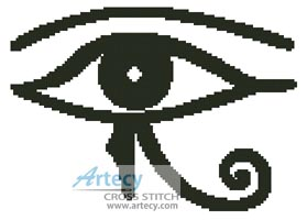 Eye - Cross Stitch Chart - Click Image to Close