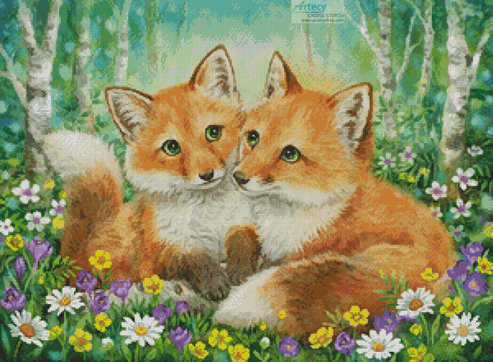 Fox Brothers - Cross Stitch Chart - Click Image to Close