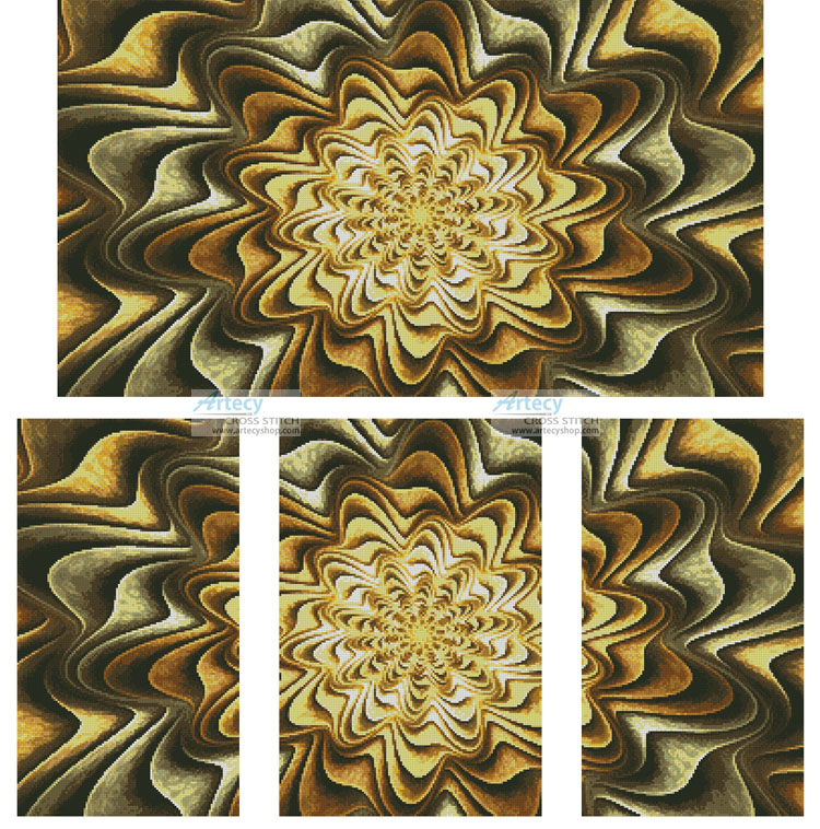 Fractal Abstract - Cross Stitch Chart - Click Image to Close