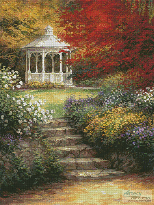 Garden Steps - Cross Stitch Chart - Click Image to Close