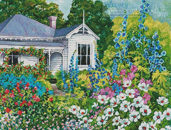 Grandma's Garden - Cross Stitch Chart - Click Image to Close