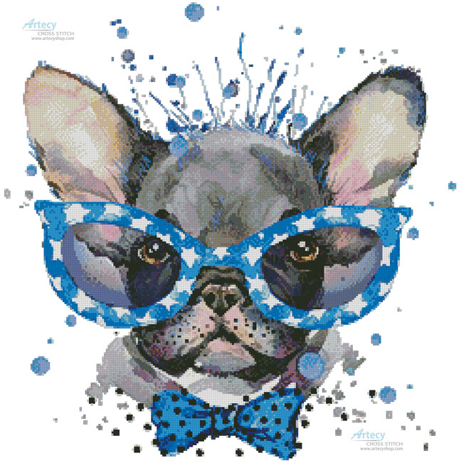 Groovy Pup 2 - Cross Stitch Chart - Click Image to Close