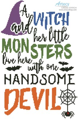 Halloween Quote - Cross Stitch Chart - Click Image to Close