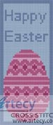 Happy Easter Bookmark - Cross Stitch Chart - Click Image to Close