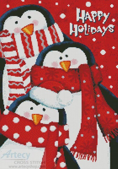 Happy Holidays - Cross Stitch Chart - Click Image to Close