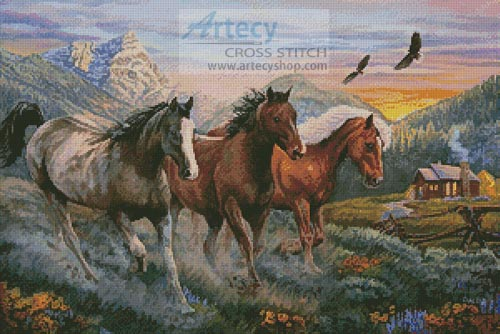 High Country Run - Cross Stitch Chart - Click Image to Close