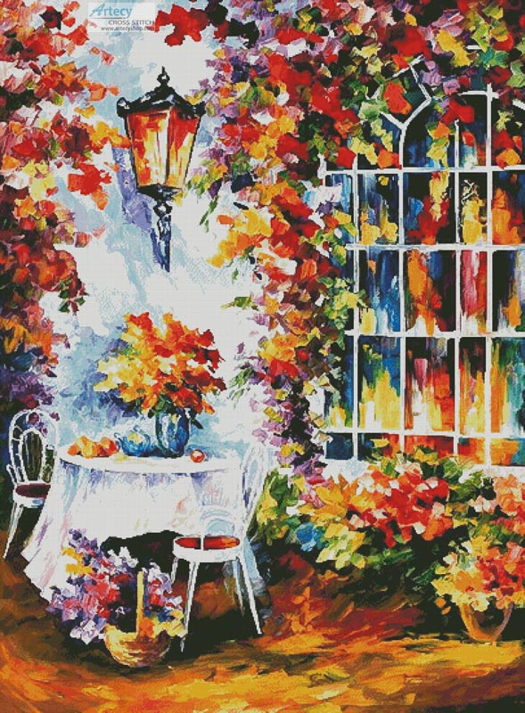 In the Garden Painting (Large) - Cross Stitch Chart - Click Image to Close