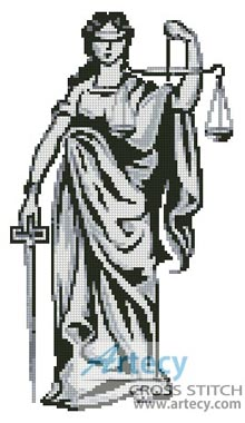 Lady Justice - Cross Stitch Chart - Click Image to Close