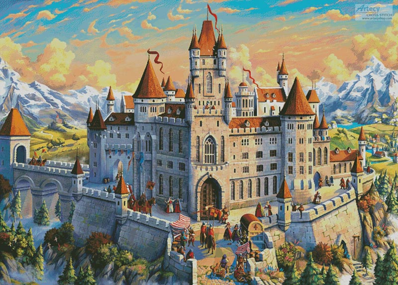 Magnificent Castle (Large) - Cross Stitch Chart - Click Image to Close