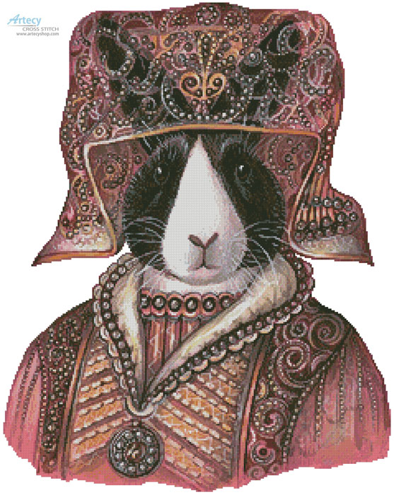 Medieval Rabbit - Cross Stitch Chart - Click Image to Close