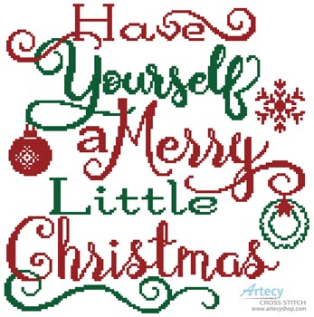 Merry Little Christmas - Cross Stitch Chart - Click Image to Close