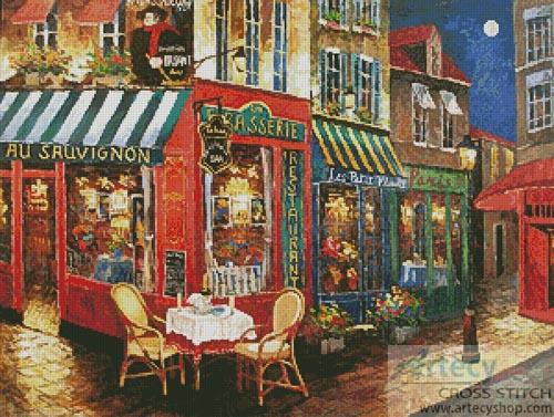 Midnight Rendezvous - Cross Stitch Chart - Click Image to Close