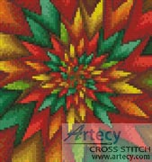 Mini Christmas Fractal - Cross Stitch Chart - Click Image to Close