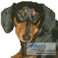 Mini Dachshund - Cross Stitch Chart - Click Image to Close