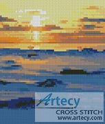 Mini Sunset - Cross Stitch Chart - Click Image to Close