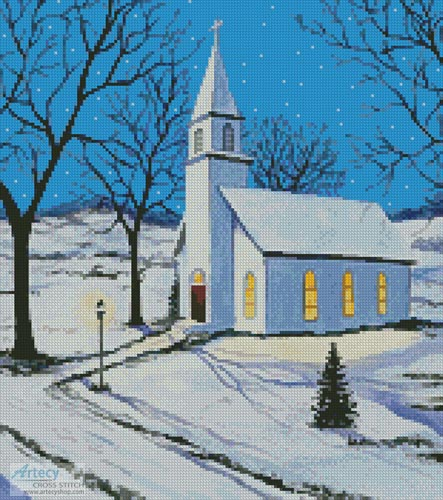 Oh Holy Night (Crop) - Cross Stitch Chart - Click Image to Close