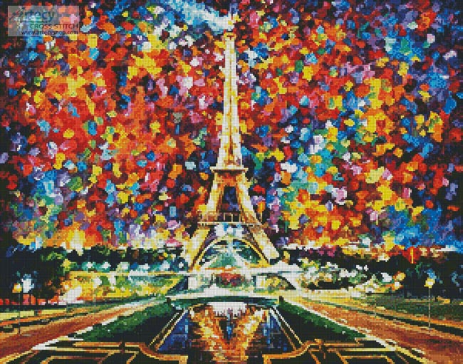 Paris of My Dreams - Cross Stitch Chart - Click Image to Close