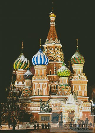 Saint Basil's Cathedral - Cross Stitch Chart - Click Image to Close