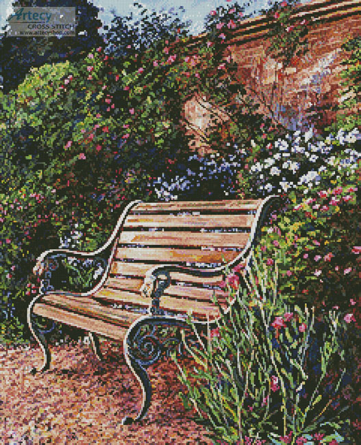 Sitting in the Garden - Cross Stitch Chart - Click Image to Close