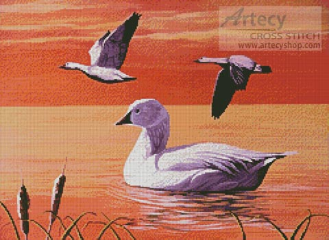 Snow Geese - Cross Stitch Chart - Click Image to Close