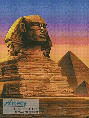 Sphinx - Cross Stitch Chart - Click Image to Close