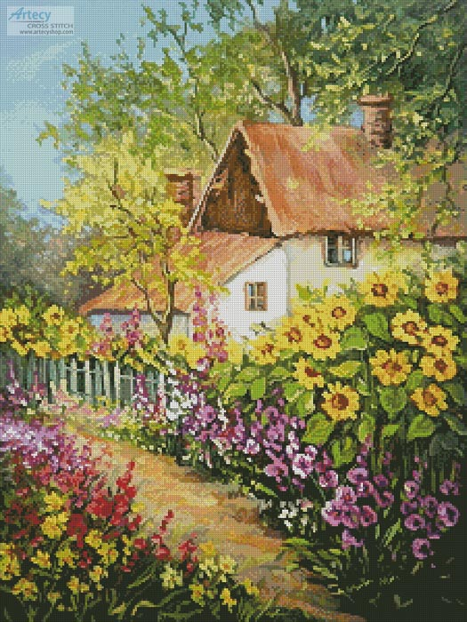 Summer Garden - Cross Stitch Chart - Click Image to Close