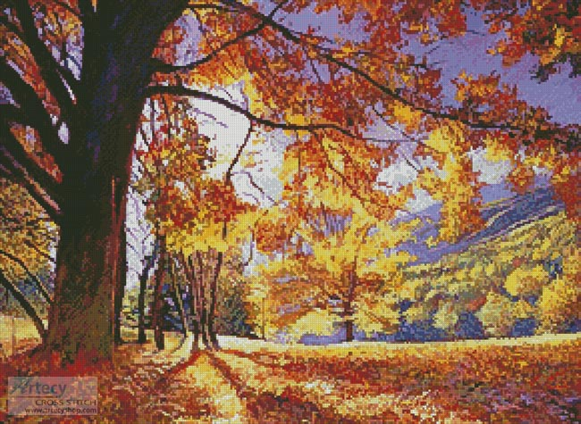 Sunlight through the Trees - Cross Stitch Chart - Click Image to Close