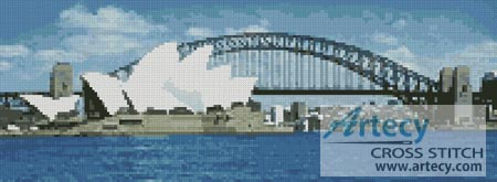 Sydney Harbour in the Day - Cross Stitch Chart - Click Image to Close
