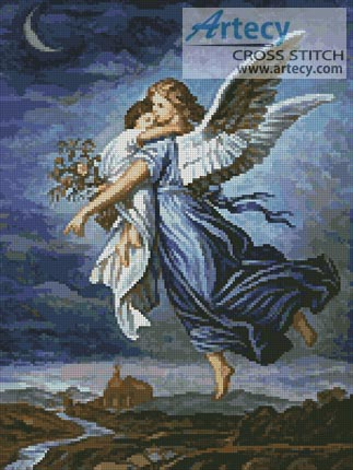 The Guardian Angel - Cross Stitch Chart - Click Image to Close