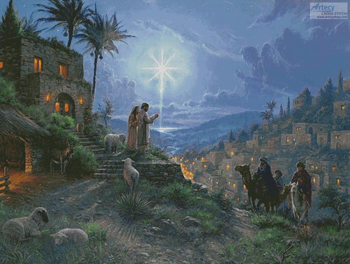 The Light of the World Painting (Large) - Cross Stitch Chart - Click Image to Close