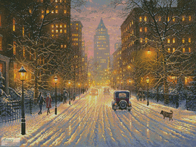 The Lights of the City - Cross Stitch Chart - Click Image to Close