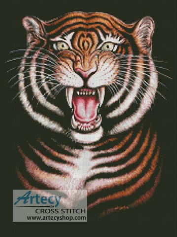 Tiger - Cross Stitch Chart - Click Image to Close