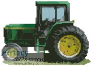 Tractor - Cross Stitch Chart - Click Image to Close