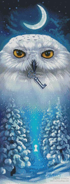 Winter Owl - Cross Stitch Chart - Click Image to Close