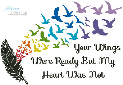 Your Wings (Rainbow 2) - Cross Stitch Chart - Click Image to Close