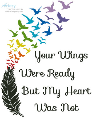 Your Wings (Rainbow) - Cross Stitch Chart - Click Image to Close