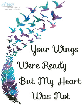 Your Wings (Watercolour) - Cross Stitch Chart - Click Image to Close