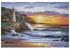 Lighthouse at Sunset - Cross Stitch Chart