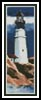 Lighthouse in a Storm Bookmark - Cross Stitch Chart