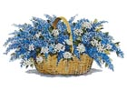 Lilac Basket - Cross Stitch Chart